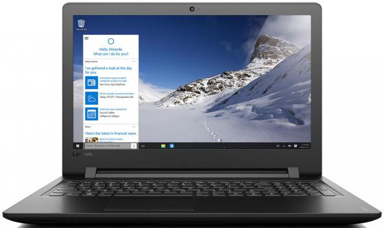 Ноутбук Lenovo IdeaPad 110-15IBR 15.6 1366x768 Intel Celeron-N3060 500Gb 2Gb Intel HD Graphics 400 черный Windows 10 Home 80T7003XRK ноутбук asus x553sa xx137t 15 6 intel celeron n3050 1 6ghz 2gb 500gb hdd 90nb0ac1 m04470
