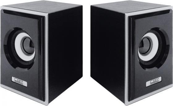 Колонки CBR CMS 408 2x3 Вт серебристо-черный