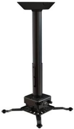 Фото - Крепеж Wize Pro PRG24A потолочный универсальный крепление+штанга 46-61см +площадка к потолку наклон +/- 15° поворот +/- 8° вращение 360° до 32кг черный карниз потолочный пластиковый dda поворот акант двухрядный серебро 2 8