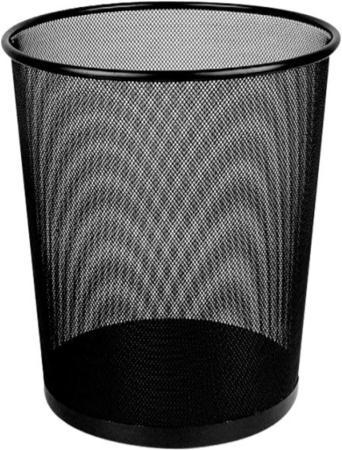 Корзина для бумаг Deli E9190 12 л круглая металлическая сетка черный цена