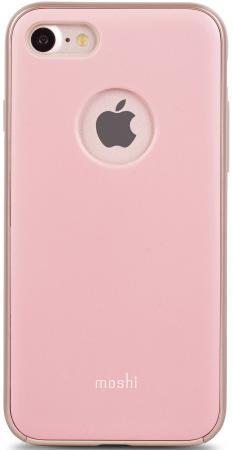 все цены на  Накладка Moshi iGlaze для iPhone 7 розовый  онлайн