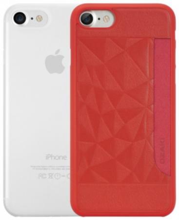 Набор чехлов Ozaki Jelly and Pocket для iPhone 7 красный прозрачный OC722RC ozaki oc112pr
