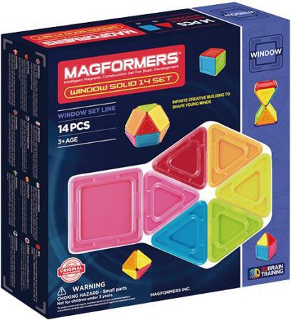 Магнитный конструктор Magformers Window Solid 14 элементов 714005 конструкторы magformers магнитный pastelle 14 63096