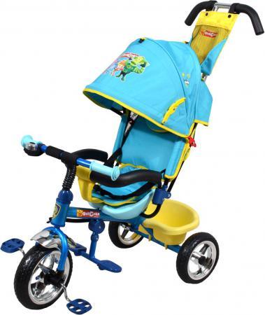 Велосипед трехколёсный Navigator Фиксики 10/8 голубой Т58462 велосипед 3 х колесный navigator lexus фиксики 10 8 т58462