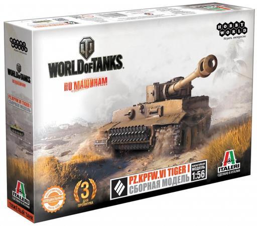 где купить Танк Hobby World World of Tanks - PZ.KPFW.VI Tiger I 1:56 бежевый по лучшей цене