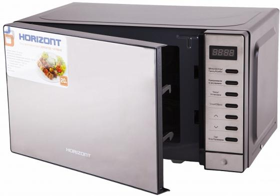 Микроволновая печь Horizont 20MW700-1479BHB 1050 Вт чёрный серебристый микроволновая печь bbk 23mws 927m w 900 вт белый