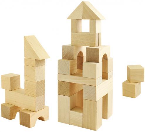 Деревянный конструктор Пелси строительный набор №1 24 элемента К626 елена крош аппликация из геометрических фигур