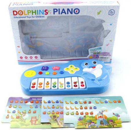 Пианино Shantou Gepai Дельфин с нотными карточками ZZ1401B shantou набор дельфин и морской конек 3302b gepai