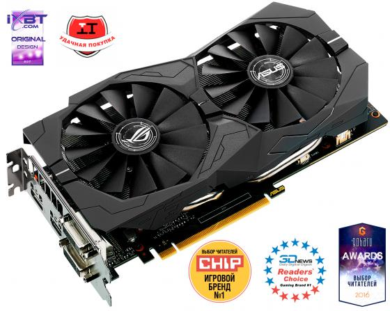 Видеокарта 4096Mb ASUS GeForce GTX1050 Ti PCI-E 128bit GDDR5 DVI HDMI DP HDCP STRIX-GTX1050TI-O4G-GAMING Retail видеокарта asus 4096mb rx 560 strix rx560 o4g evo gaming dvi dp hdmi ret