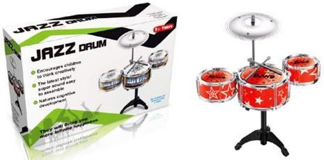 Барабанная установка Shantou Gepai Джаз-3, 3 барабана, 1 тарелка, 2 палочки в ассортименте TH688-2 цена