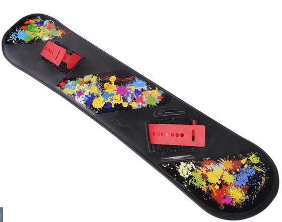 Сноуборд RT с креплениями черный пластиковый (разноцветные крепления) , 2943