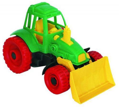 купить Трактор Нордпласт Трактор с грейдером 27.5 см зеленый 59 по цене 320 рублей