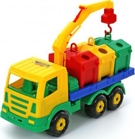 все цены на Автомобиль Полесье Престиж контейнеровоз 42 см разноцветный 44181 онлайн