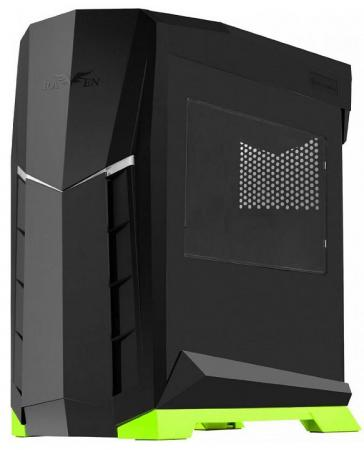 Корпус microATX SilverStone Raven SST-RVX01BV-W Без БП чёрный зелёный корпус silverstone case ss grandia gd06b black sst gd06b