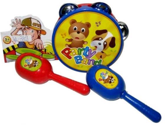 Набор музыкальных инструментов Shantou Gepai Party Band (бубен, маракасы) 899A-9S 200 здоровых навыков которые помогут вам правильно питаться и хорошо себя чувствовать