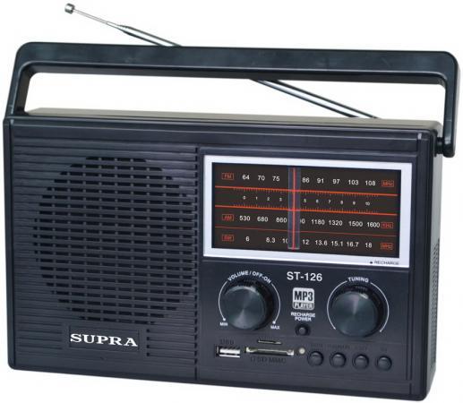 Радиоприемники Supra ST-126 черный supra mts 211