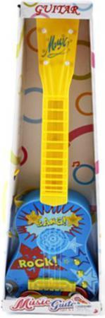 Гитара Shantou Gepai Рок 58см, 4 струны, свет, звук 738 музыкальные игрушки shantou gepai электронный барабан лягушонок свет звук