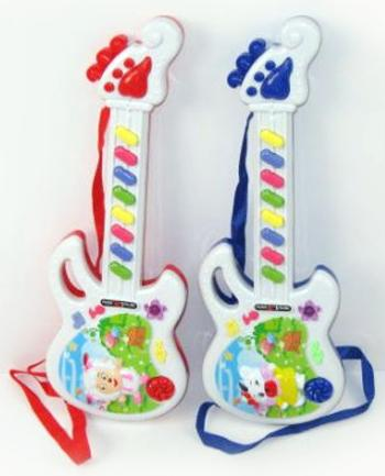 Гитара эл. Shantou Gepai веселая овечка. Элементы питания в комплект не входят 318-5 детский музыкальный инструмент shantou gepai гитара y14221046