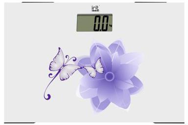 Весы напольные Irit IR-7236 белый рисунок отпариватель irit ir 2304 800вт белый синий