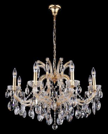 Подвесная люстра Crystal Lux Hollywood SP8 Gold подвесная люстра crystal lux hollywood sp8 gold