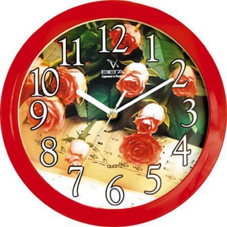 Часы настенные Вега П1-1/7-29 красный vega 50