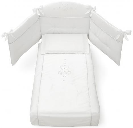 Комплект постельного белья 3 предмета Erbesi Brillante (белый)