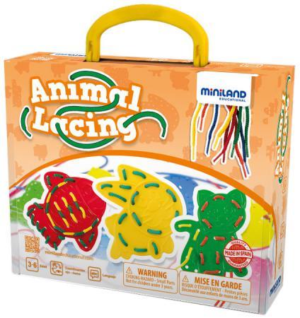 Шнуровка Miniland Животные 45304 сортеры miniland шнуровка животные