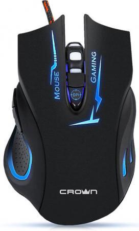 купить Мышь проводная Crown CMXG-615 чёрный USB дешево