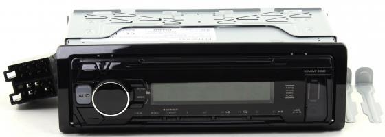 Автомагнитола Kenwood KMM-102AY USB MP3 CD FM 1DIN 4х50Вт черный автомагнитола kenwood kmm 103gy usb mp3 fm 1din 4х50вт черный