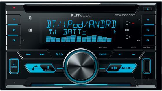 Автомагнитола Kenwood DPX-5000BT USB MP3 CD FM 2DIN 4х50Вт черный автомагнитола kenwood kdc bt500u usb mp3 cd fm rds 1din 4х50вт черный