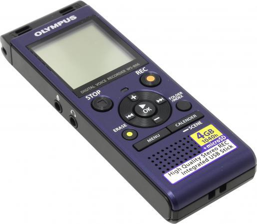 дубль 513077Цифровой диктофон Olympus WS-806 4Гб синий бинокль olympus 8x25 pc i