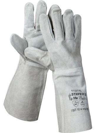 Краги Stayer термостойкие для сварки и тяжелых механических работ длина 400мм 11331-XL_z01