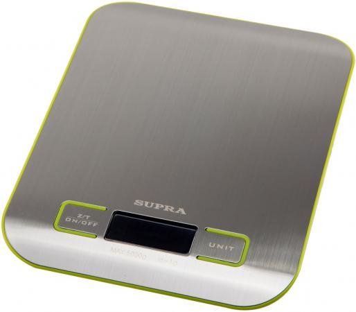 Весы кухонные Supra BSS-4075 серебристый