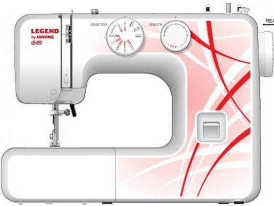 Швейная машина Janome Legend LE20 белый/рисунок швейная машинка janome legend le 25