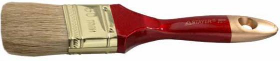 Кисть плоская Stayer UNIVERSAL-PROFI натуральная щетина деревянная ручка 50мм 0104-050 плиткорез stayer profi 3318 50 500мм