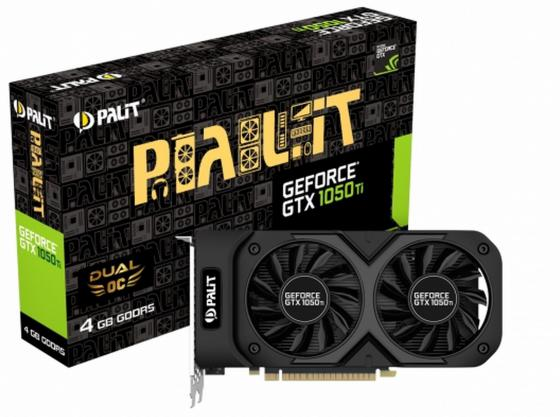 цена на Видеокарта Palit GeForce GTX 1050 Ti GeForce GTX1050Ti Dual OC 4G PCI-E 4096Mb GDDR5 128 Bit Retail