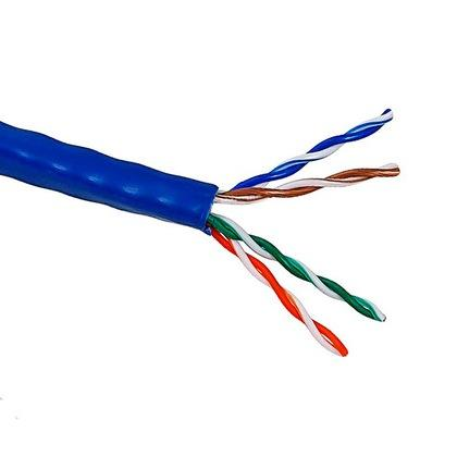 Кабель UTP indoor 4 пары категория 5e Lanmaster одножильный медь 305 м синий цена и фото