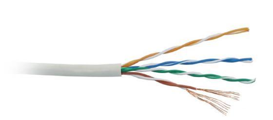 Фото - Кабель Lanmaster UTP level 5E 4 пары PVC 200 MHz (305м) серый 24AWG LAN-5EUTP-PT-GY кабель utp 2pr 24awg cat5e 305м