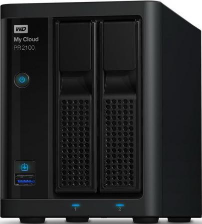 Сетевое хранилище WD My Cloud Pro PR2100 WDBVND0080JBK-EEUE сетевое хранилище wd my cloud pr4100 wdbkwb0080kbk eeue 8тб