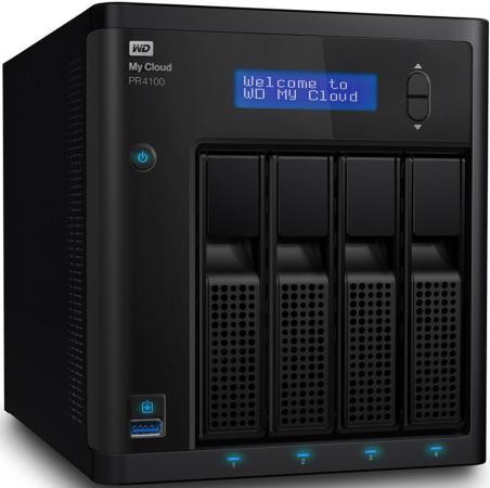 где купить  Сетевое хранилище WD My Cloud Pro PR4100 WDBKWB0000NBK-EEUE  дешево