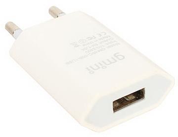 Сетевое зарядное устройство Gmini GM-WC-008-1USB 1A USB белый сетевое зарядное устройство apple usb мощностью 5 вт md813zm a