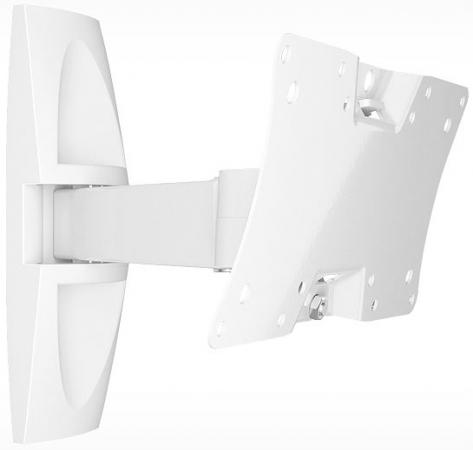 цена на Кронштейн Holder LCDS-5063 белый для ЖК ТВ 19-32 настенный от стены 265мм наклон +15°/-25° поворот 90° до 30кг