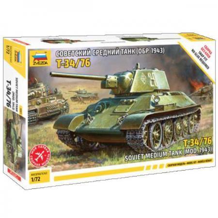 Танк Звезда Советский средний танк Т-34 1:72 серый 5001 танк звезда матильда ii британский средний 1 100 6171
