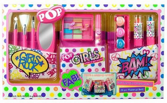 Игровой набор детской декоративной косметики Markwins Pop  поясом визажиста 9 предметов 36010