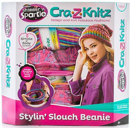 Набор для вязания Cra-Z-Art Стильная шапка-колпак 6 шт 17436