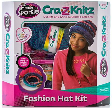 Набор для вязания Cra-Z-Art Шапка 17119 крези арт cra z knitz 17436 набор для вязания стильная шапка колпак