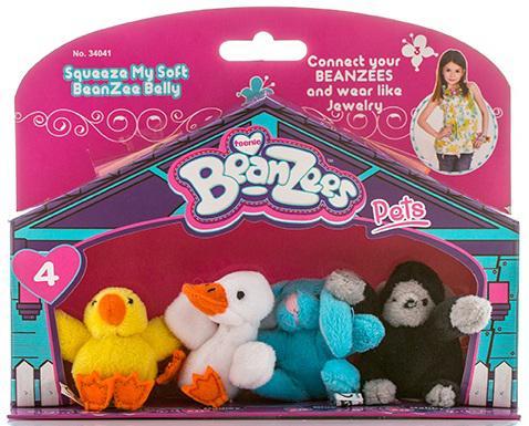 """Игровой набор Beanzees """"Цыпленок, Утенок, Кролик, Горилла"""" 4 предмета B34041"""