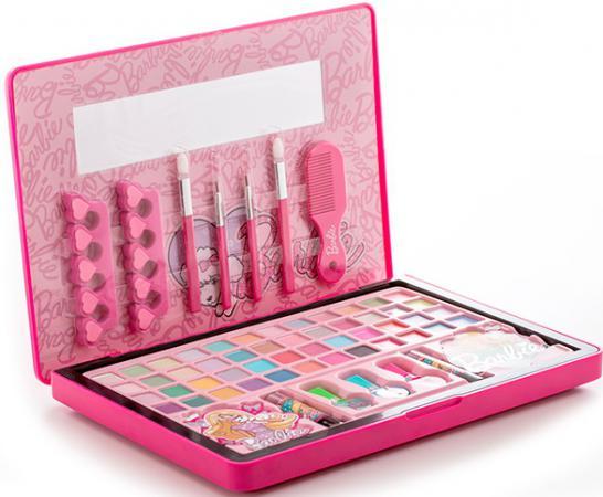 Игровой набор детской декоративной косметики Markwins Barbie в кейсе (большой) 20 предметов 9601151 набор декоративной косметики для ногтей markwins barbie