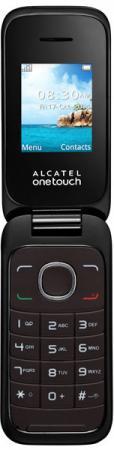 Мобильный телефон Alcatel One Touch 1035D коричневый 1.8 32 Мб мобильный телефон alcatel one touch 1035d 1035d 2aalru1