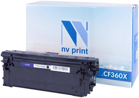Картридж NV-Print CF360X для HP LaserJet Color M552dn/M553dn/M553n/M553x/MFP-M577dn/M577f/Flow M577c черный 12500стр nv print cf303a magenta тонер картридж для hp laserjet enterprise flow mfp m880z m880z plus m880z plus nfc